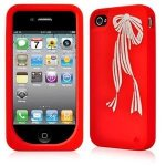 kate spade iphone 4 silicone case bow