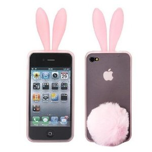 pink rabbit iphone 4 case stand
