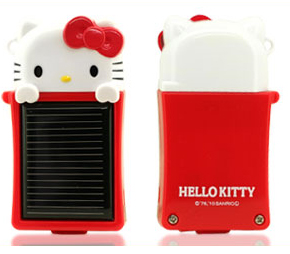 hello kitty solar iphone charger